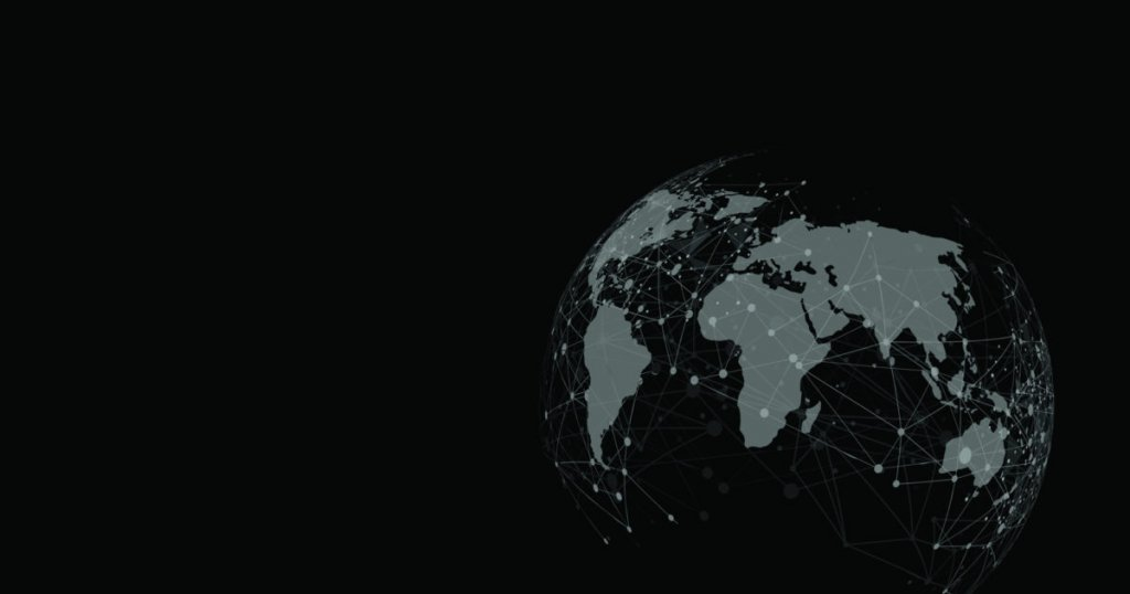 Codan Communications Dark World Globe With Interconnecting Dots