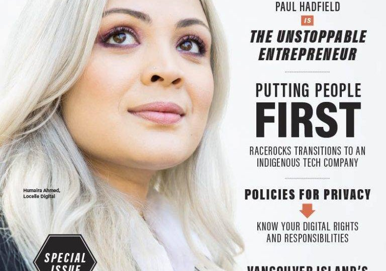 Douglas Magazine 10 To Watch on Front Cover Humaira Ahmed, Founder of Locelle